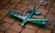 Dipstick .020 radio control small model aeroplane balsa kit 2 ch for .020 td cox engine FMK models